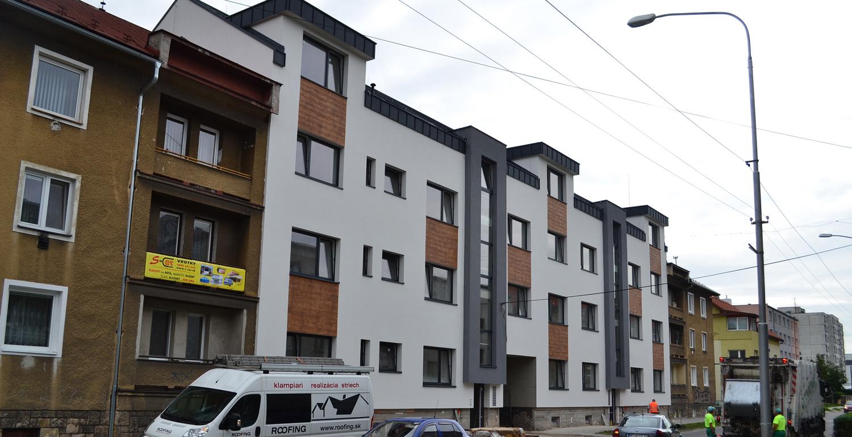 Bytový dom Turiec - realizácia strechy